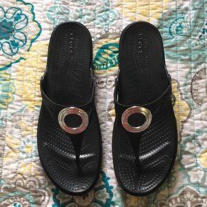 Crocs Sanrah wedge sandals, Sz 11, never worn